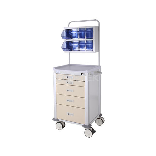 anesthesia cart / for medical devices / 5-drawer / with cassettes