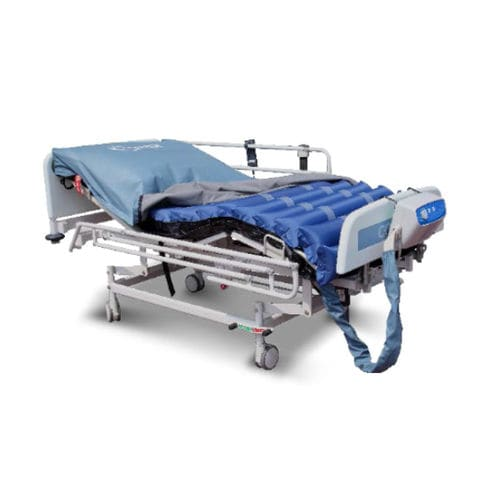 hospital bed mattress overlay / dynamic air / fabric / anti-decubitus