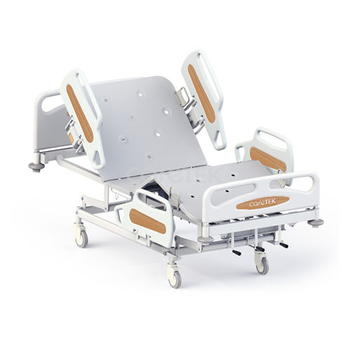 medical bed / electric / on casters / 4-section