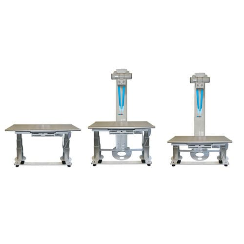 height-adjustable X-ray table / with tube stand