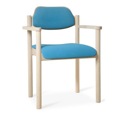 waiting room chair / dining room / with armrests / stackable
