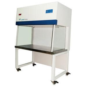 laboratory fume hood / compact / horizontal laminar flow / stainless steel