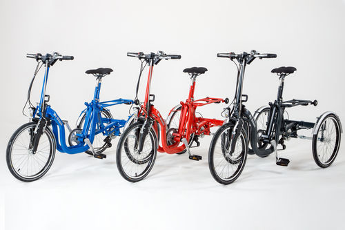 adult adaptative tricycle / foldable / lever-propelled / electric