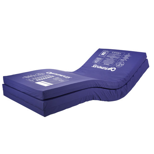 hospital bed mattress overlay / polyurethane / waterproof / fire-resistant