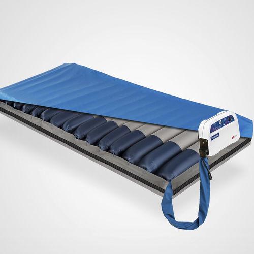 hospital bed mattress overlay / dynamic air / anti-decubitus / with air pump