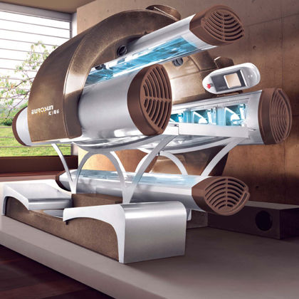 open type tanning bed
