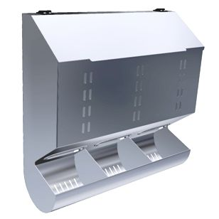 glove dispenser / wall-mounted / stainless steel