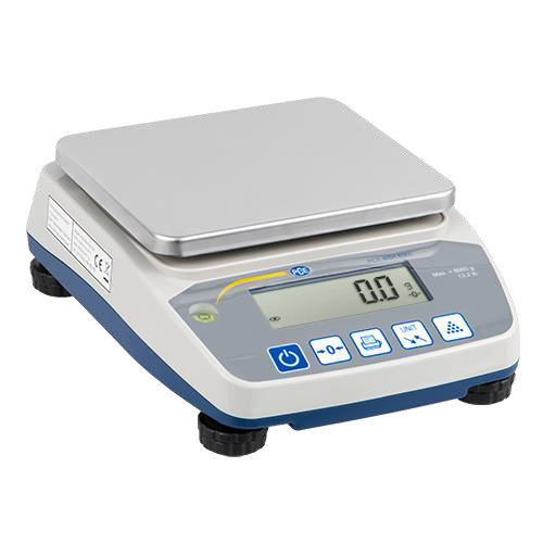 precision laboratory balance / with LCD display / benchtop / compact