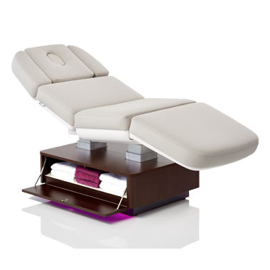manual spa table / with headrest / with armrests / height-adjustable