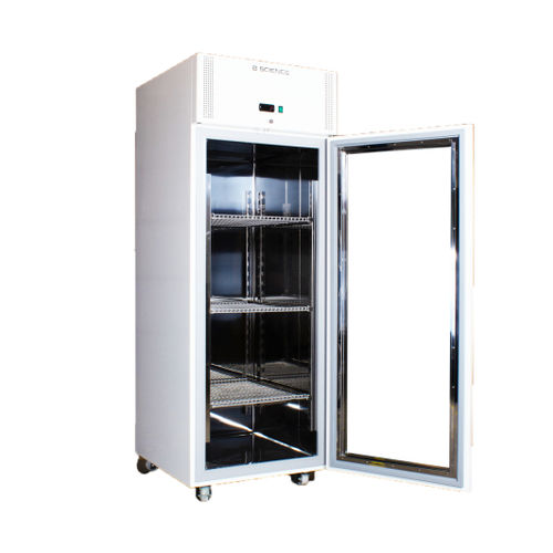 laboratory refrigerator / cabinet / on casters / with automatic defrost