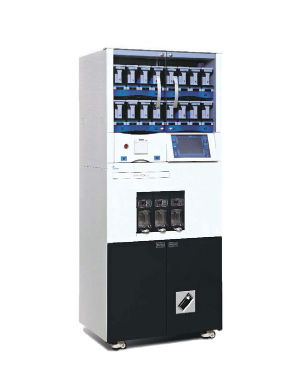 automatic packaging machine / on casters / tablet / tray