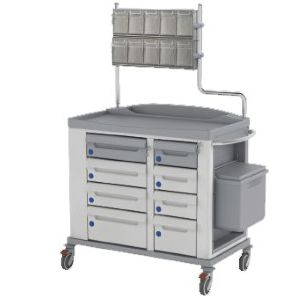 medicine distribution trolley / for medicine / with drawer / with cassettes