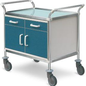 dressing trolley / with drawer / with door / medical