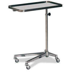 height-adjustable Mayo table / on casters