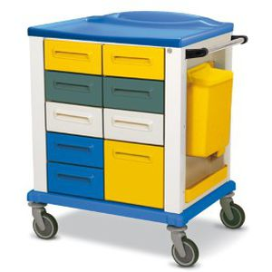 storage trolley / for general purpose / with drawer / with waste bin