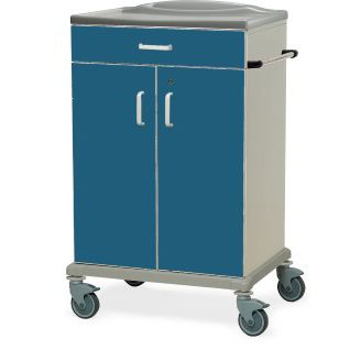 cleaning trolley / clean linen / with drawer / 2-door