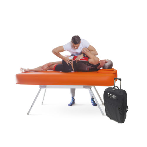 manual massage table / height-adjustable / portable / 1-section