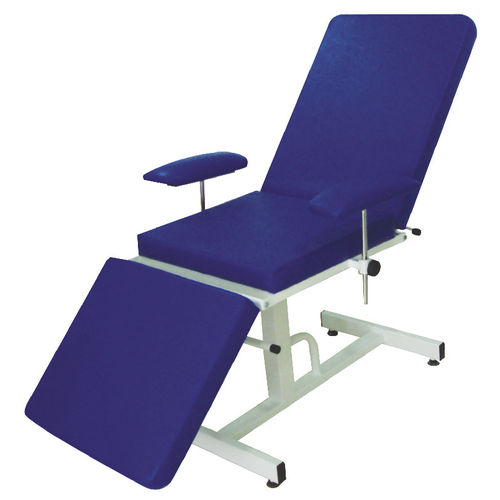 manual blood donor chair / 3-section / fixed-height