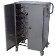meal delivery trolley / with shelf / 2-door