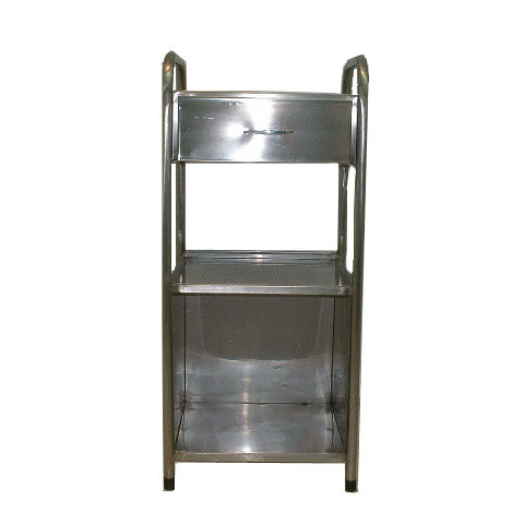 cabinet with drawer / with tray / stainless steel