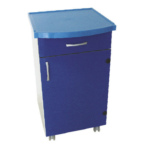 bedside table on casters / modular / with wardrobe