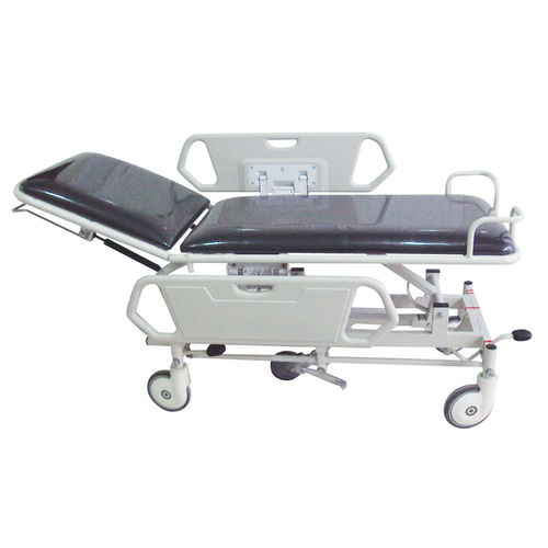 transport stretcher trolley / manual / height-adjustable / 2-section