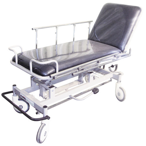 transport stretcher trolley / manual / height-adjustable / 2 sections