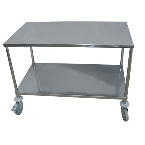 storage trolley / for instruments / 2-tray / medical