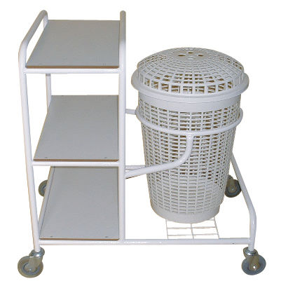 cleaning trolley / for linen / 3-tray / medical
