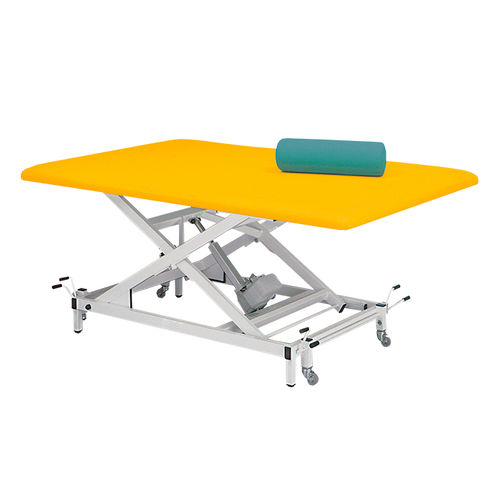 manual Bobath table / height-adjustable / on casters / 1-section