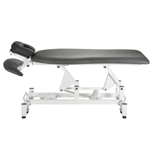 electric massage table / with headrest / height-adjustable / on casters