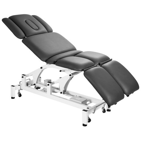 electric massage table / with armrests / with double legrests / height-adjustable