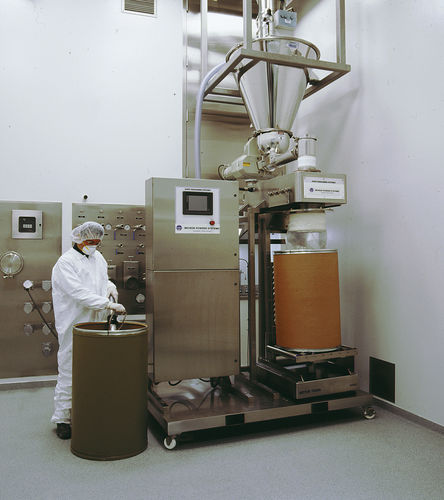 volumetric filler / weight / for powders / for the pharmaceutical industry