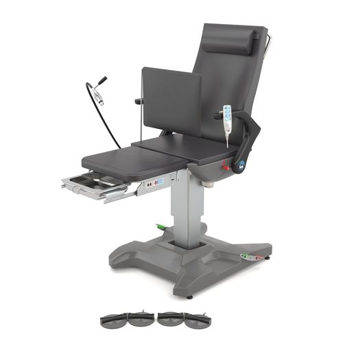 podiatry examination chair / electric / height-adjustable / reclining