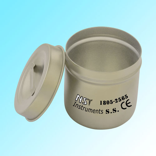 dental instrument dressing drum / stainless steel / non-perforated