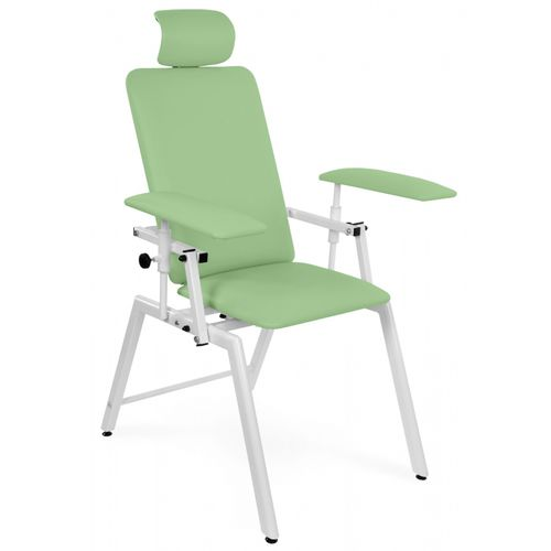 manual blood donor chair / 2-section / fixed-height