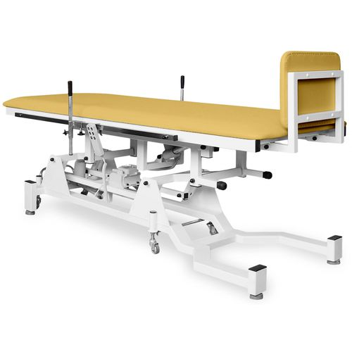1 section tilt table / therapy / electric / on casters