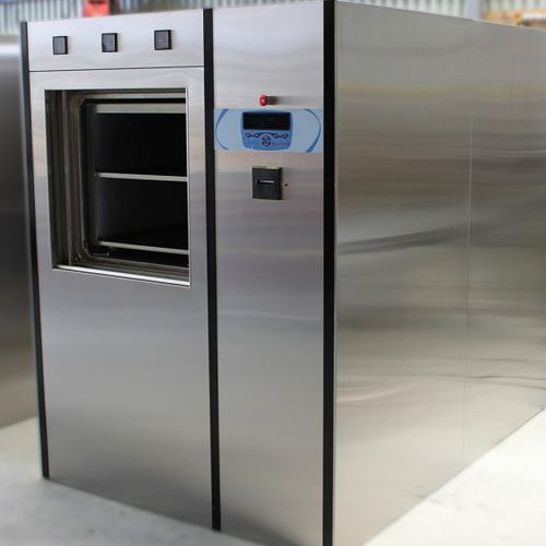laboratory autoclave / CSSD / floor-standing / pass-through
