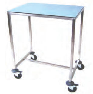 instrument table on casters
