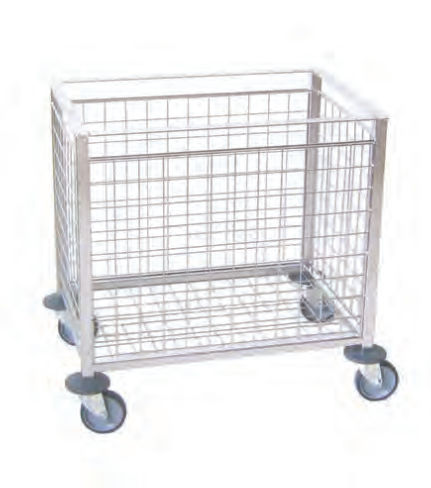 transport trolley / for sterile materials / stainless steel