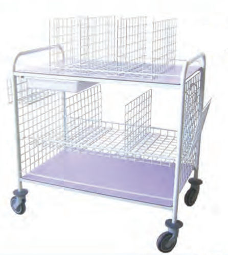 changing trolley / 3-tray / with basket / with bin