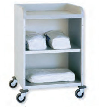 timing trolley / for linen / with tray