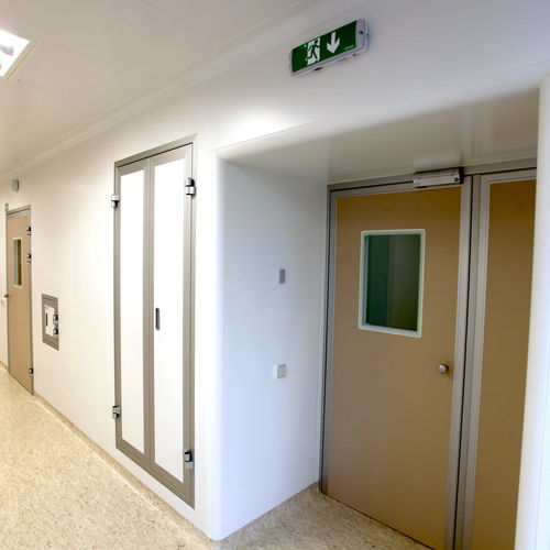 hermetic door / sliding / intensive care / operating room