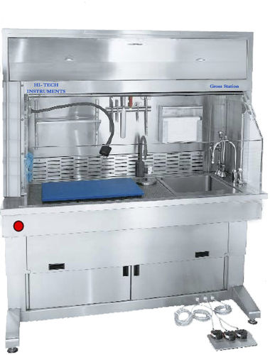histopathology laboratory workstation / floor-standing / with downdraft ventilation