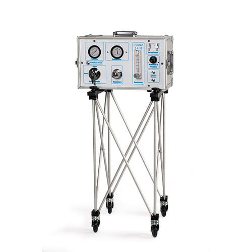 trolley-mounted colon hydrotherapy unit