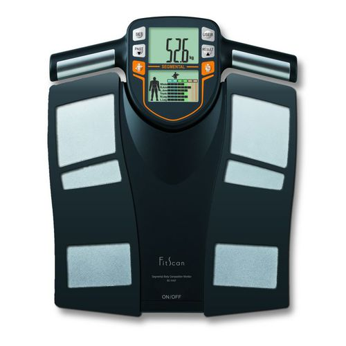 segmental body composition analyzer / with digital display / with BMI calculation / battery-powered