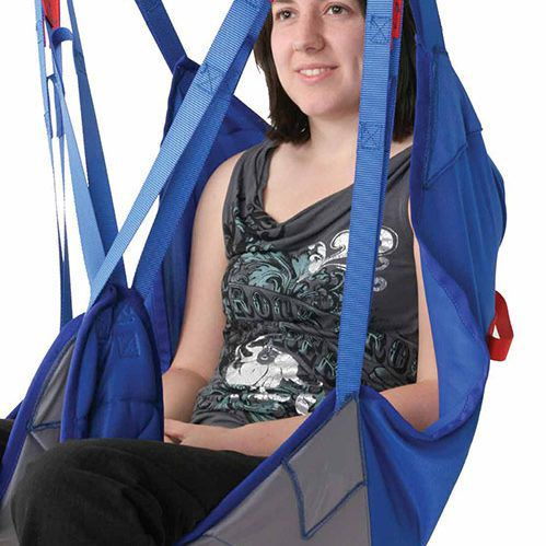 patient lift sling / with head support