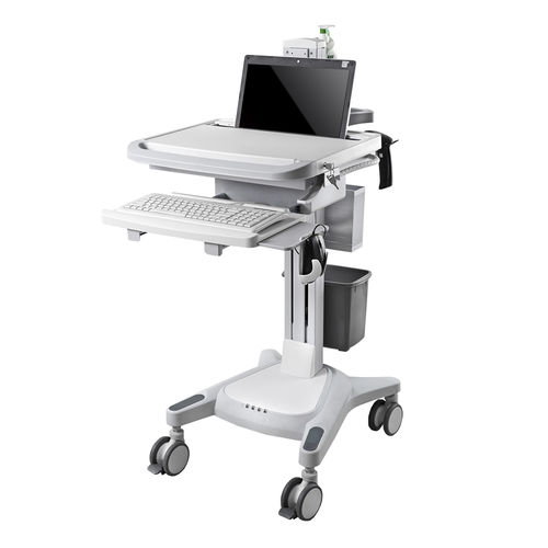 laptop computer cart / height-adjustable / modular