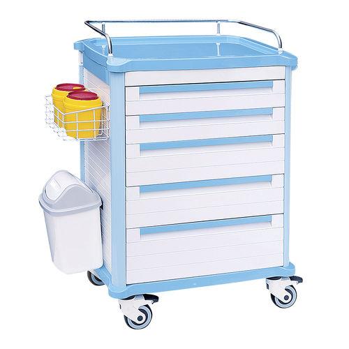loading cart / multi-function / medicine / with waste bin