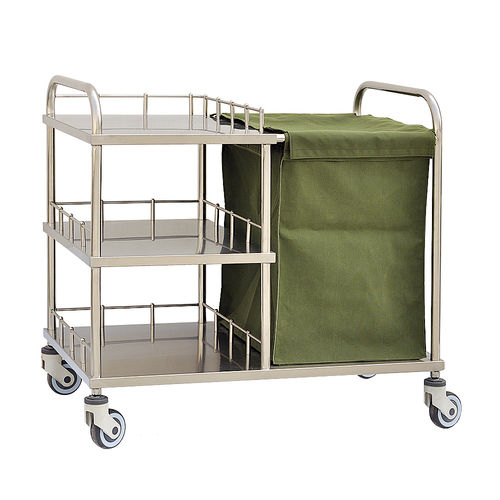 multi-function trolley / for general purpose / 3-tray / 1-bag